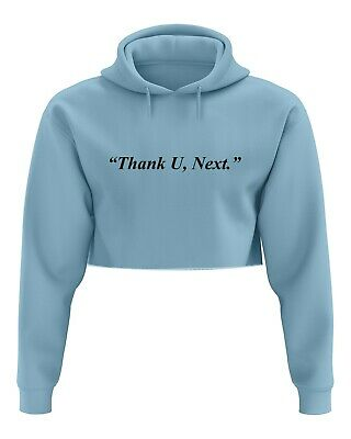 Thank U Next Cropped Hoodie - Hoody Top Crop Fan Ariana Grande You Album Music