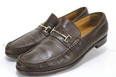 45fa4d6f387 Bruno Magli Horsebit Penny Loafers  220 Men s Shoes Sz 14 Calfskin Leather  Brown