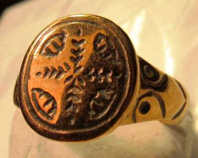 Christian Ring With Palm Fronds