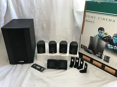 Canton Movie 125 MX 5.1 surround sound speakers and subwoofer, great condition.