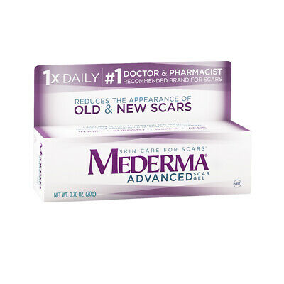 Mederma Advanced Skin Care For Old and New Scars 20g Gel Tube (2 Pack) 01/20+