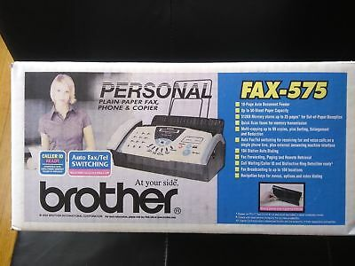 NEW Brother Fax-575 Personal Plain Paper Fax Phone and Copier SEALED FREE SHIP