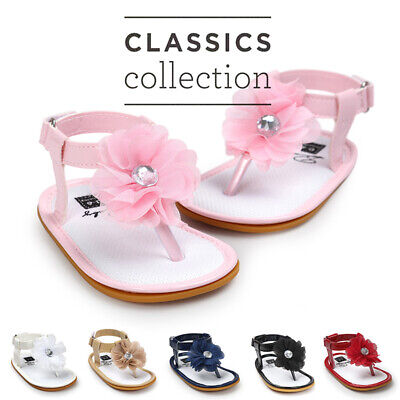 0-18Month Chiffon Flowers Soft Sole Baby Sandals Girl Infant Toddler Shoes
