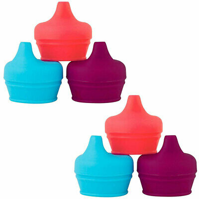6pc Boon Snug Spout Baby/Girl/9m+/Infant Cup Universal Cover/Lid Blue/Pink/PP