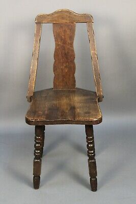 Antique Signed Monterey Rancho California A Frame Side Chair 1930's (11678)
