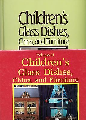 2-Volume Book Set / Antique Children's Toy Glass Dishes China Furniture + Values