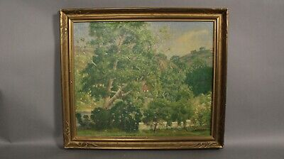 Antique California Landscape By Henry Hengstler Circa 1930's (11675)