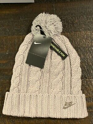 Nike Cable Knit Beanie Womens One Size Winter Hat FREE SHIPPING NWT 925422  027 360bfb8feae4