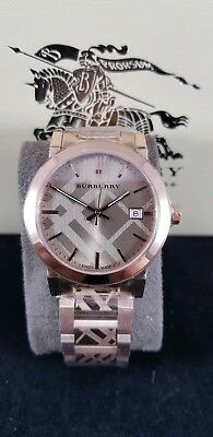5200d253ee9c84 BURBERRY ROSE GOLD-TONE Dial Stainless Steel Quartz Ladies Watch ...