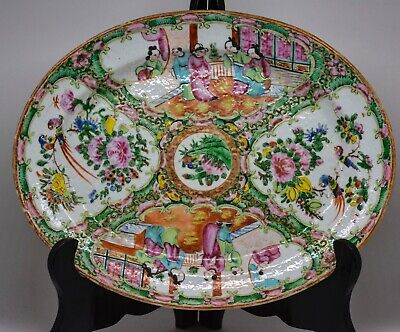 Antique Chinese Export Rose Medallion Tray - Late 1800's - 12 x 9.5 Inches ~🐘