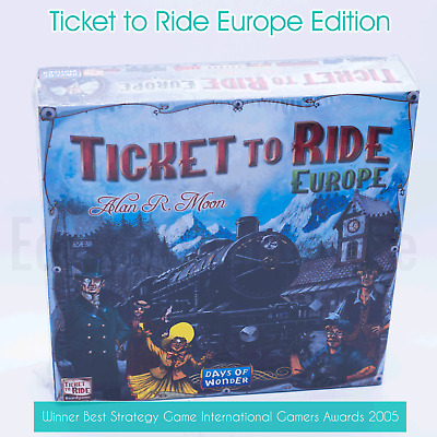 Ticket To Ride Europe Edition Family Board Game Train Adventure Party Cards NEW
