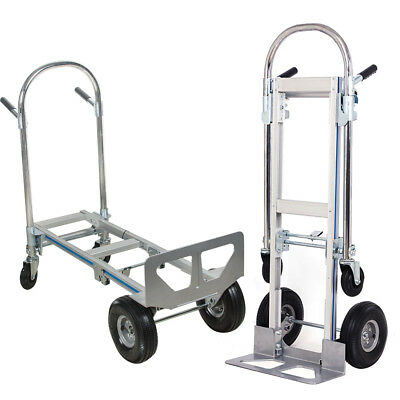 2378cc127c8 USA Foldable Hand Truck Dolly 2-1 Convertible Hand Truck Cart 2 to 4 Wheeler