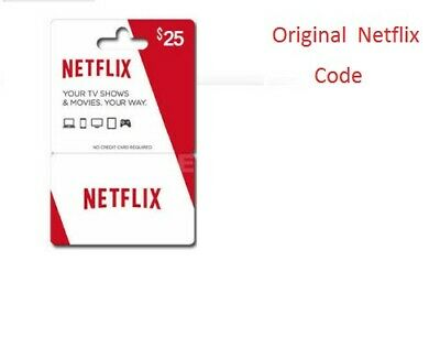 Netflix Gift Card $25 * 1- 2- 4 simultaneous connections Only works USA*