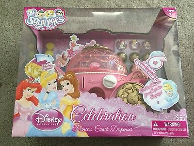 Squinkies - Disney Princess Coach Dispenser - Brand New - AUS