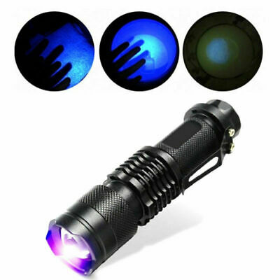 395/365 nM UV Ultra Violet LED Flashlight Blacklight Inspection Lamp Torch SPE