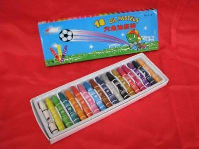 Oil Pastel Assorted Colour Crayons 18pack x 12 packs
