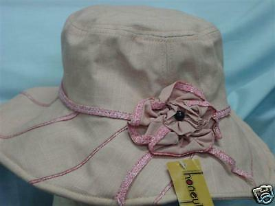 Stylish Girls Pink Hat  with flower