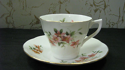 """Duchess Tea Cup and Saucer England Bone China Queens  Lavender Flowers """"NICE""""!"""