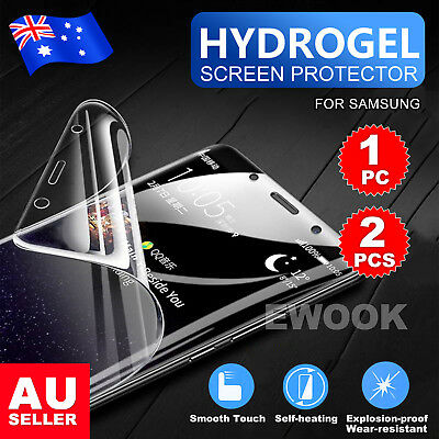 HYDROGEL AQUA FLEX Screen Protector For Samsung Galaxy S9 S8 Plus Note 8 9 Edge