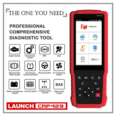 Launch X431 CRP429 OBD2 Scanner Diagnostic Scan Tool Code Reader All Systems CA