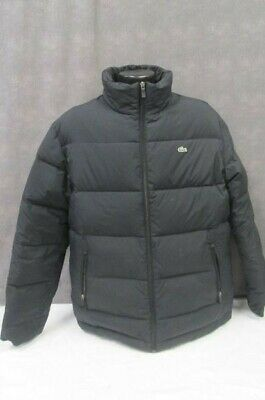 17083dc578b732 LACOSTE LIVE MENS DOWN-PADDED PUFFER COAT - STONE GREY - Men s Size ...