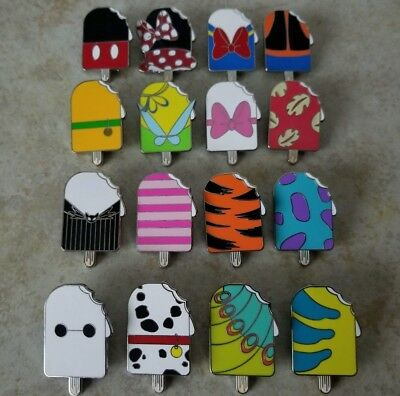 Disney Trading Pins Lot of 16 Complete Ice Cream Popsicle Set Jack Marie Mickey