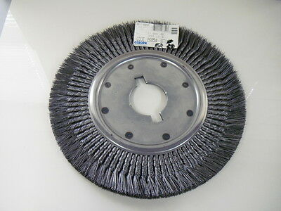 "Osborn 26854 DC Knotted Steel Wire Wheel Brush 3"" Arbor Hole .020 wire 16"" OD"