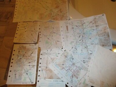 aeronautical CHART MAPS (1997...) JEPPESEN  13 of them perfect condition