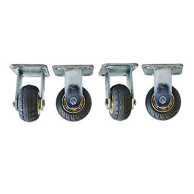 4pcs 4inch/100mm Heavy Duty Fixed Caster Wheels 800KG Load Rubber Castor