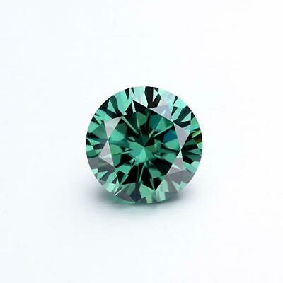 1.00 Ct Green 6.5 MM Round Cut Loose Moissanite Diamond VVS1 For Jewellery.