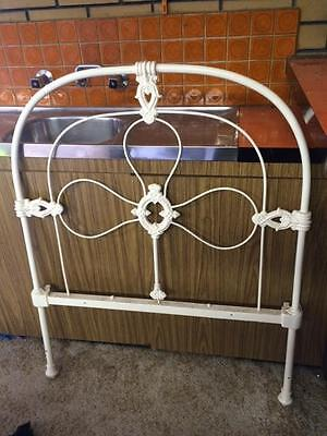 Genuine Victorian iron single bed head