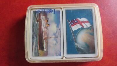 1910-Present Farrell Lines Steamship Co. Souvenir Double Deck of Playing Cards.