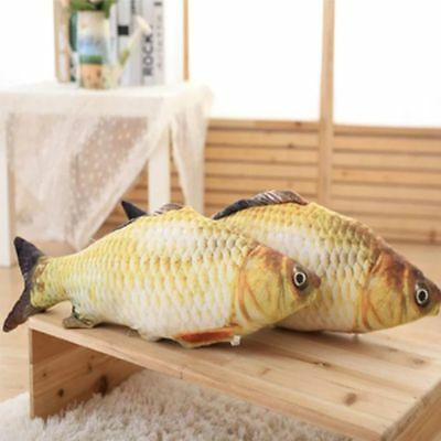 1PC Funny Pet Kitten Cat Play Cute Fish Shaped Plush Toys Coated With BB sounder