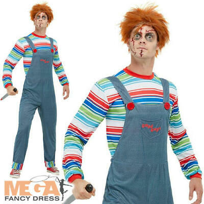 Chucky Mens Fancy Dress Freaky Dead Doll Halloween Horror Adults Costume Outfit