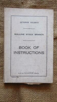 1940 Victorian Railways Rolling Stock Branch Book of Instructions with 194 Pages