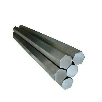 MILD STEEL HEXAGON BAR/ROD -  various diameter/length combinations