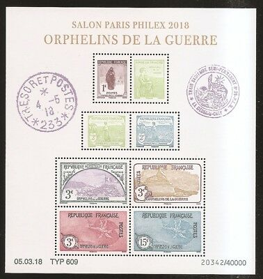 FRANCE 2018 Bloc n° BF 5226 ORPHELINS  NEUF**LUXE