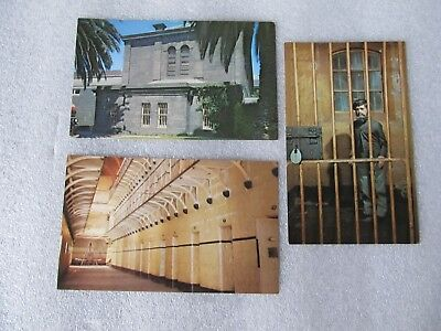 3 Vintage postcards of Old Melbourne Gaol Victoria, National Trust