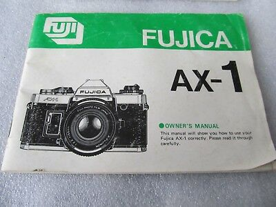 Vintage FUJI - Fujica AX-1 Owners Manual - English & Foreign Language