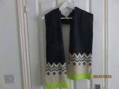 BODEN JOHNNIE B Boy's Navy Scarf *BRAND NEW* 100%  Acrylic Length 164 cm approx