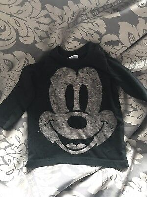 Baby Disney Next Long Sleeved Tshirt Mickey Mouse 3-6 Months