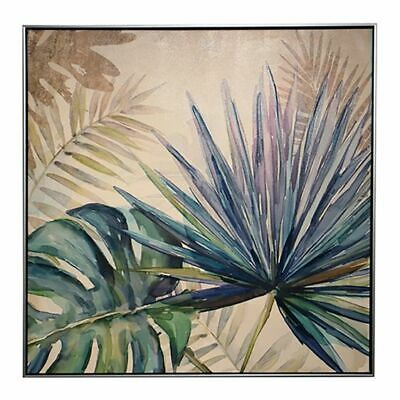 NEW NF Living Exotic Palms Framed Canvas Painting