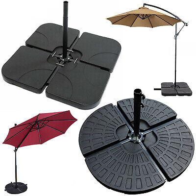 Set of 4 Outdoor Umbrella Cantilever Parasol Base Stand Sand Water Filled Weight