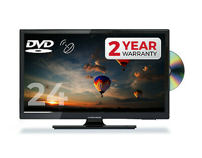 """Ferguson 24"""" Inch Led Tv Freeview Hd Built In Dvd Usb Hdmi Made In Uk"""