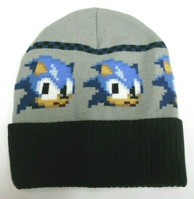 ef04aa0ea3d NEW SEGA S.A. SONICTHE HEDGEHOG knit ARCADE game BEANIE HAT CAP movie sz -  o