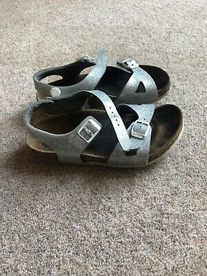 Birkenstock Rio Kids Tango Red Patent Size Infant 12 Sandals With Box.