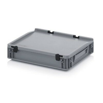 Euro Containers 40x30x9 with Lid Stacking Lagerbox Stapelbox 400x300x90