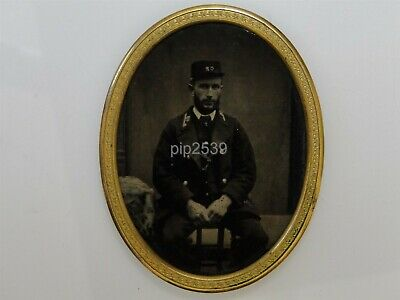 Tintype Photo Of Railway Worker - Caledonian Railway ? Central Railway ? c1860s