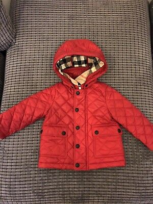 Burberry Girls Quilted Jacket Age 9 Years 35 00