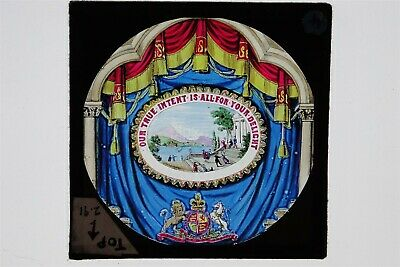 Opening Message / Motto For Lantern Show - Hand Painted Glass Lantern Slide